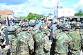 Bosnian-Herzegovinian soldiers form up for crowd rioting control operations Aug. 27, 2014, during Saber Junction 2014 at the Joint Multinational Readiness Center in Hohenfels, Germany 140827-A-AO952-011.jpg