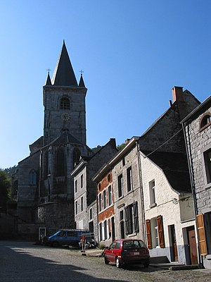 Bouvignes-sur-Meuse - The neighbourhood of St. Lambert's church (13th-20th centuries)