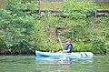 Boy paddles kayak at Douthat State Park (31255287952).jpg