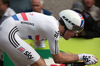 British National Time Trial Championships - Bradley Wiggins wearing the National Time Trial Champion's Jersey in 2011