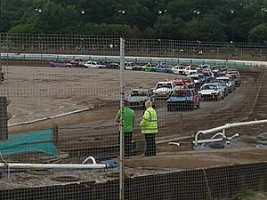 Brandon Stadium - BriSCA historic stock cars at the stadium in 2014