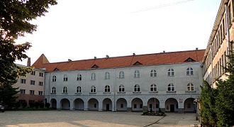 Collegium Hosianum - Courtyard Collegium Hosianum, today Vocational School