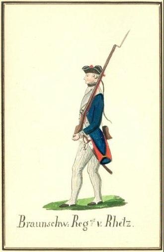 Brunswick Troops in the American Revolutionary War - Musketeer Regt von Rhetz.