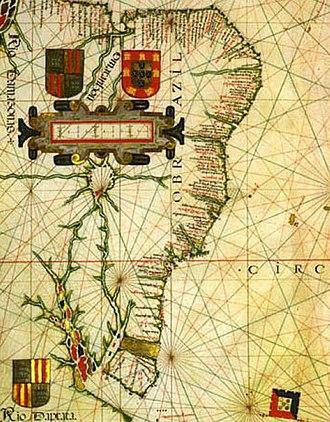 Evolution of the Portuguese Empire - From Vaz Dourado atlas of c. 1576