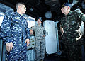 Brazilian military Gen. Floriano Peixoto, commander of United Nations Stabilization Mission in Haiti, visits USS Bataan (LHD 5) with U.S. Army Lt. Gen. P.K. Keen, deputy commander of U.S. Southern Command and 100311-N-HX866-024.jpg