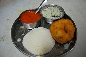 Vigna mungo - Idli and medu vada, a very common breakfast in South India