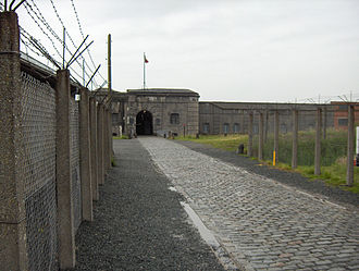 Belgian Resistance - The entrance to Fort Breendonk where many captured members of the resistance were held