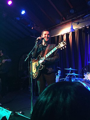 Brian Fallon - Fallon performing in Santa Cruz, California in February 2016 in support of Painkillers