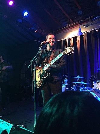 Brian Fallon - Fallon performing in Santa Cruz, California in February 2016 in support of Painkillers