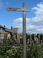 Bridleway signpost, Wood Bank - geograph.org.uk - 852807.jpg