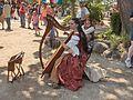 Bristol Faire Harpist.JPG