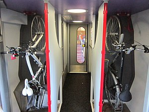British Rail Class 221 - Compartment for 3 bicycles on board CrossCountry 221140