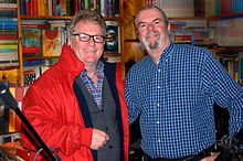 British comedian and television host Jim Davidson with with journalist Garry Bushell.jpg