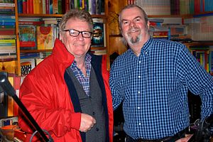 Jim Davidson - Image: British comedian and television host Jim Davidson with with journalist Garry Bushell