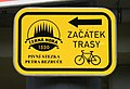 Brno, Řečkovice, Cycling Route Sign.jpg
