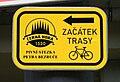 Brno, Řečkovice, Cycling Route Sign.jpg