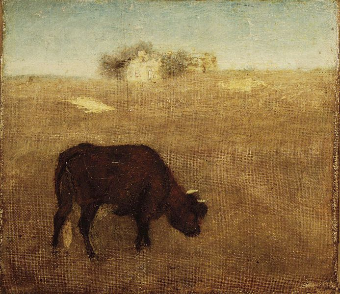 File:Brooklyn Museum - Evening Glow The Old Red Cow - Albert Pinkham Ryder - overall.jpg