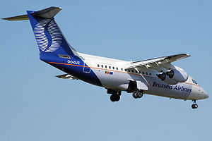 Brussels Airlines - A former Brussels Airlines Avro RJ85 in SN Brussels Airlines livery