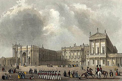 Buckingham Palace nel 1837.