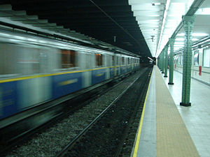 Pasco (Buenos Aires Underground) - Image: Buenos Aires Subte Pasco 1
