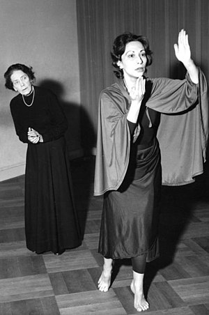 German Expressionism - Mary Wigman, pioneer of Expressionist dance (left)