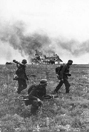 Operation Barbarossa - German soldiers (Flamethrower team) in the Soviet Union, June 1941