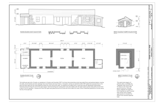 North N Home Plan And Elevation : File bunkhouse east elevation plan west dugout