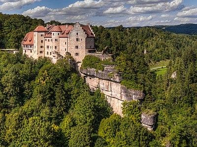 Rabenstein castle in the Franconian Switzerland near Bayreuth