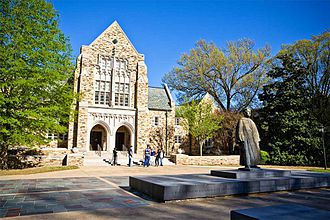 Rhodes College - Burrow Hall and Diehl Statue
