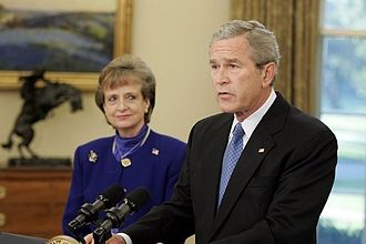 George W. Bush Supreme Court candidates - President Bush introducing withdrawn nominee Harriet Miers.