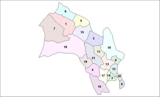 Location of Buskerud Municipalities