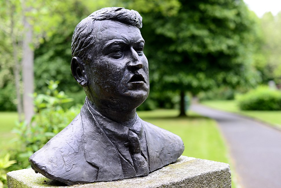 Bust of Michael Collins at Merrion Square Park, Dublin, Ireland.