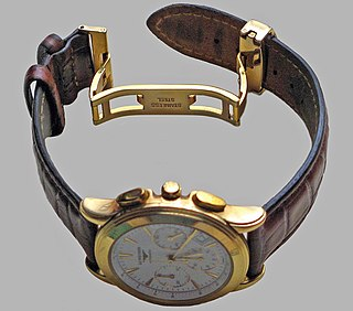 Watch strap Bracelet that straps a watch to the wrist