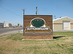 The entrance to Buttonwillow