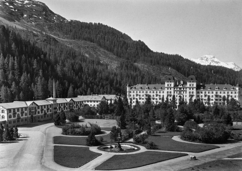 CH-NB - St. Moritz-Bad, Hotel Kurhaus, Teilaussenansicht - EAD-PHGL-14956-A