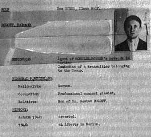 Helmut Roloff - CIC file ref. Helmut Roloff (about 1947)