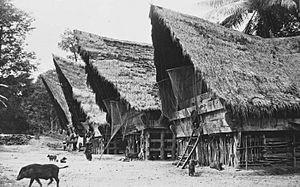 Batak architecture - Toba Batak village