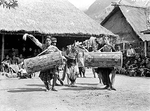 Gendang beleq - Gendang beleq performance during colonial era. ca. 1934.