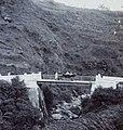 COLLECTIE TROPENMUSEUM Europeanen bij de auto op de brug op de terugweg na een uitstapje naar Selo TMnr 60053704.jpg