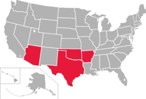 Central States Football League - Image: CSFL USA states