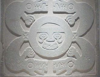 Cabana, Peru - Engraved stone from Cabana. Belongs to the Pashash culture, around 500 AD