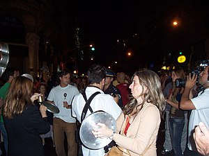 A cacerolazo in Buenos Aires.