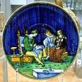 Caffagiolo Dish with maiolica painter VA 1717-1855.jpg