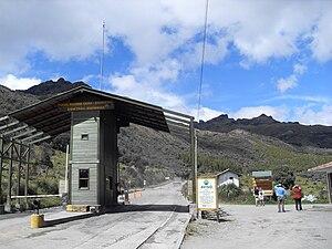 Cajas National Park - Park entrance.