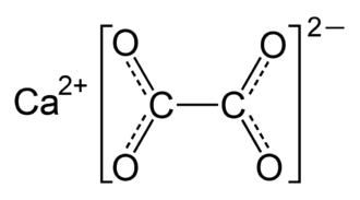 Calcium oxalate - Image: Calcium oxalate resonance