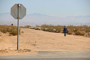 California City, California - Vast undeveloped areas of California City