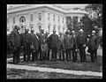 Calvin Coolidge and group outside White House, Washington, D.C. LCCN2016893446.jpg