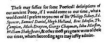 Extract from a book praising several poets including Shakespeare