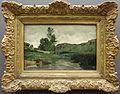 Camille corot, optevoz (presso lione), lavandaie a bordo dell'acqua, 1852.jpg