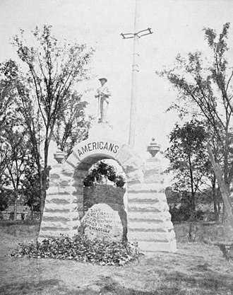 American Civil War prison camps - The memorial to the Confederate dead at Camp Chase, published in 1909